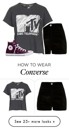 """""""Untitled #558"""" by iiscool on Polyvore featuring River Island, Topshop and Converse"""