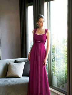 love the color and style....maybe not as long though....bridesmaid dresses! Be adorable.