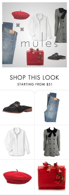 """""""Classic Mule"""" by pj-cox ❤ liked on Polyvore featuring Vince Camuto, Citizens of Humanity, Lacoste, Brixton, Nancy Gonzalez, Elora and mules"""