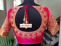 Blouse for sravani Wedding Saree Blouse Designs, Pattu Saree Blouse Designs, Blouse Designs Silk, Designer Blouse Patterns, Wedding Blouses, South Indian Blouse Designs, Marie, Maggam Works, Fashion Blouses