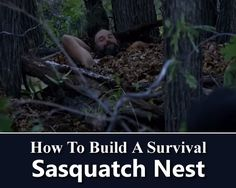 How To Build A Sasquatch Nest - dead simple survival shelter, that will surely keep you warm all night long... #shtf #survival #camping #emergency