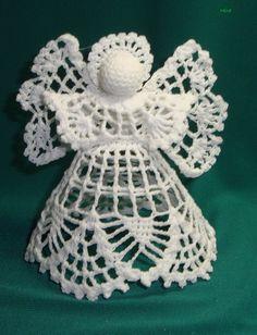 Crochet Angel Pattern, Crochet Angels, Crochet Doily Patterns, Thread Crochet, Crochet Doilies, Angel Ornaments, Hanging Ornaments, Beatrix Potter Illustrations, Crochet Decoration
