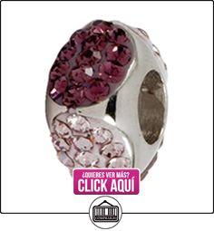 """Amore & Baci """"Morado en color plateado Cubic Swarovski Bead–encaja en Pandora Chamilia y Troll pulseras  ✿ Joyas para niñas - Regalos ✿ ▬► Ver oferta: https://comprar.io/goto/B004CS9P6Q"""