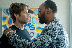 Hank meets Samurai Apocalypse He doesn't like to hear NO. He wants Moody to write a screenplay for him movie