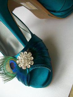 Platform Peacock Teal Blue Satin Shoes 4 Inch Heel by Parisxox, $162.00
