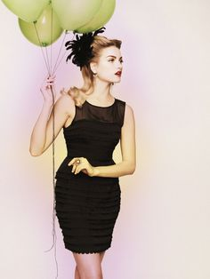 Layer Cake Sheath #bhldn #dress #balloon #party #wedding #black