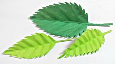 Paper leaf (Rose leaves) diy design craft making tutorial easy cutting f...