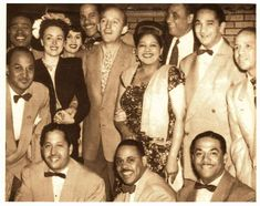 Graciela in the center with Bing Crosby and the Machito Orchestra.