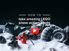 Recreating Avanaut's awesome LEGO snow action photos.