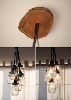 Little Lady Little City: Mason Jar Chandelier DIY