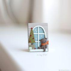 Купить Окошко в Новый год. Брошь-миниатюра в интернет магазине на Ярмарке Мастеров