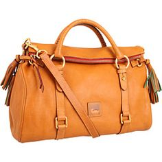 Dooney and Bourke Double Strap Tassel Satchel $398 I kinda want this in blue or red!