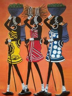 The African continent abounds with artistic talent African Paintings, Abstract Art Painting, Art Painting, Tribal Art, Indian Art, Culture Art, Art, Canvas Art, Africa Art
