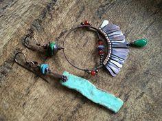 Rustic Bohemian Festive Soul earrings n.165  artisan by Tribalis