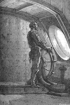 The Illustrated Jules Verne: Vingt mille lieues sous les mers Jules Verne, Meer Illustration, Gravure Illustration, Nautilus, Sea Pirates, Sea Captain, Science Fiction, Leagues Under The Sea, Steampunk