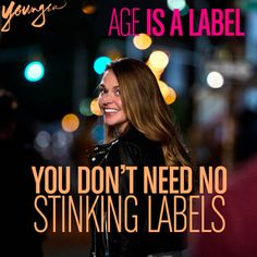 Age is a label. #YoungerTV premieres March 2015 on TV Land. Visit us at www.youngertv.com. #YoungerTVParty #Sponsored