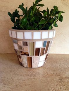 A personal favorite from my Etsy shop https://www.etsy.com/listing/473460124/indoor-planter-mosaic-flower-pot-outdoor