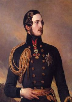 Prince Albert (1819-1861), whose official title was Prince Consort, was the husband of Queen Victoria.    After his death he was mourned by the Queen for the rest of her life.