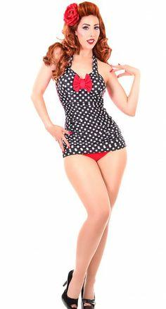Sugar Doll Swim Scarlett One Piece Bathing Suit: for the post baby bod