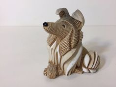 "Vintage Artesania Rinconada Collie Dog Figurine 3 3/4"" L x 3 3/4"" H x 2 1/4"" W"