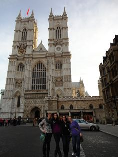 """London, England - """"During a tour we got to jump off the bus and take tons of pictures of Westminster Abbey; one of the most famous pieces of architecture in the world.""""  Photo by: Caroline (Jr.) during the CCSA London/Dublin Winter Break 2011/2012 program."""