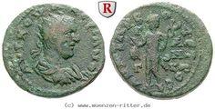 RITTER Kilikien, Anazarbos, Valerianus I., Triassarion, Hermes #coins