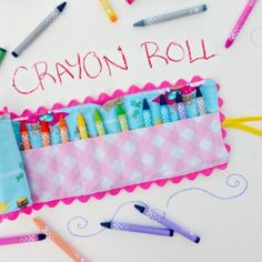 A cute and fun easy sewing project for back to school