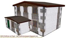 Large Cottage Paper Model In Several Scales - by Edifícios De Papel - == -  This is the Large Cottage paper model, created by Spanish designers Mónica and Anibal, from Edifícios de Papel website. This model is available in 6 different scales: 1/56 scale(28mm), 1/72 scale, HO scale (1/87), 1/100 scale (15mm), N scale (1/160) and Z scale (1/220). Great for Dioramas, Train Sets, RPG and Wargames!