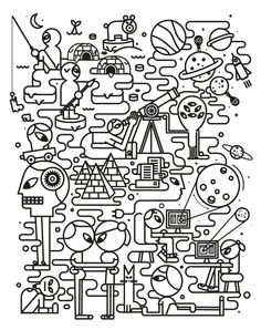 BACK TO THE LINE - various ill and work 2013 by Jonathan Calugi, via Behance