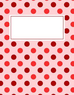 Free printable red polka dot binder cover template. Download the cover in JPG or PDF format at http://bindercovers.net/download/red-polka-dot-binder-cover/