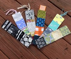 Scrappy fabric bookmarks by KD-Quilts.  A perfect quick gift accessory for the reader on your gift list!