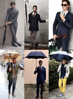 Umbrella-Men für einen verregneten Donnerstag! Wer darf deinen Regenschirm halten?