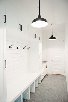 Slate+Herringbone+Floors,+Shiplap+and+black+barn+pendants+in+the+mudroom+  +Studio+McGee.jpg