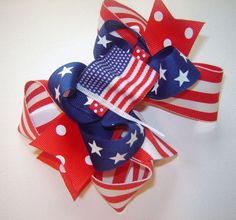 Girls Toddlers Infants All-American Patriotic Red by bowtowne