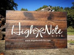 We were flattered when High Note Gifts in Nashville, Tennessee asked us to create their store front sign. Made on 60 year old barn wood gathered from local Tennessee farms. Check out this unique store that offers gifts created only by local artisans that showcase the very best in Nashville, TN.