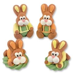 Sugar Easter bunnies, sitting Edible Cake Decorations, Buy Cake, Milk Protein, Royal Icing, Bunny Rabbit, Cupcake Toppers, Easter Bunny, Gingerbread Cookies, Bowser