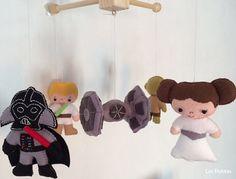 Baby Crib Mobile  Star Wars Mobile  Nursery Star by LesPetitesshop