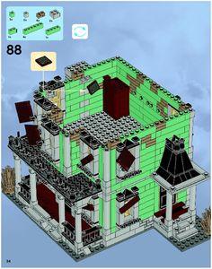 Lego Building Project For Kids 28 - mybabydoo Lego Projects, Projects For Kids, Project Ideas, Legos, Lego Haunted House, Lego Super Mario, Big Lego, Lego Halloween, Lego Sculptures