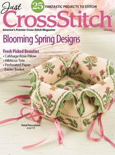 Just Cross Stitch Magazine Subscription Cross Stitch Magazines, Cross Stitch Books, Just Cross Stitch, Cross Stitch Pillow, Types Of Stitches, Spring Design, Pin Cushions, Pillows, Cross Stitching