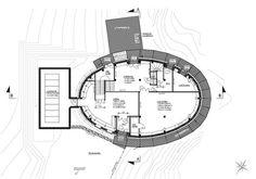 Plan Refuge du Goûter: rez-de-chaussée pour l'accès, les vestiaires et les…