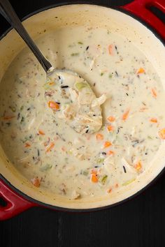Creamy Chicken and Wild Rice Soup - Cooking Classy