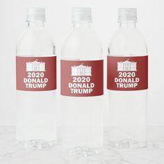 Trump 2020 Elections Water Bottle Label Best Diy Face Mask, Water Bottle Labels, Wine, Drinks, Drinking, Drink, Cocktails