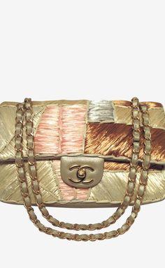 Chanel Gold And Multicolor Shoulder Bag