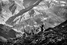 Pilgrims walking, Himalayas, Nepal