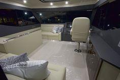 #flybridge #enclosed #penthouse #helm #garmin #simrad  #maritimo #m48 #ngt15 #oceansapart #elegant #motor #yacht #boat #2016 #wenge #classy #teak #foldoutbed #sofa