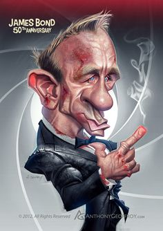 Daniel Craig, James Bond 50th anniversary by AnthonyGeoffroy.deviantart.com