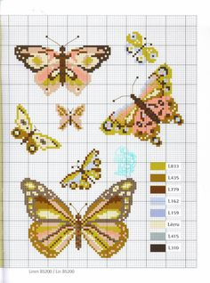 Butterflys # ook leuk voor strijkkralen...