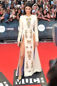 Kendall Jenner - red carpet - Fausto Puglisi dress