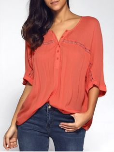 GET $50 NOW | Join RoseGal: Get YOUR $50 NOW!http://www.rosegal.com/blouses/bat-sleeve-chiffon-blouse-698250.html?seid=7100631rg698250