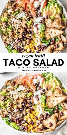 Easy Appetizer Recipes, Vegan Dinner Recipes, Whole Food Recipes, Healthy Recipes, Meat Appetizers, Best Vegan Recipes, Yummy Vegan Meals, Best Vegan Salads, Vegan Lentil Recipes
